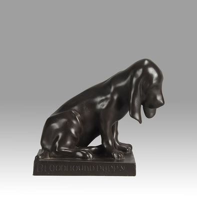 Animalier Bronze Bloodhound Puppy