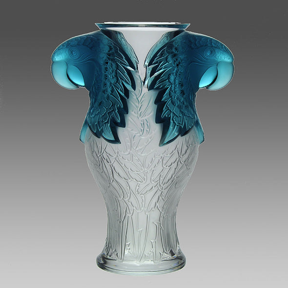 Macaw Vase by Rene Lalique