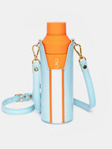 Aqua/Orange Bottle Bag