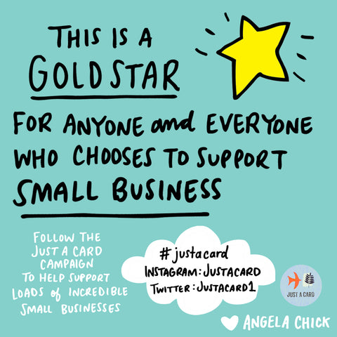 Just A Card Gold Star Image by Angela Chick