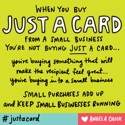 Just A Card Campaign Image by Angela Chick