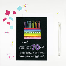 70 Year Old Birthday Card for 70 Year Old Happy 70th Birthday by Angela Chick