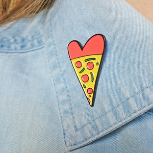 Pizza Lover Enamel Pin by Angela Chick