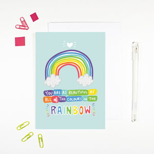 Beautiful As A Rainbow Card
