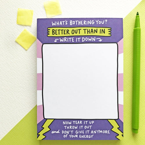 Better Out Than In Notepad by Angela Chick