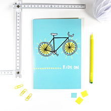 Ride On Bike Notebook by Angela Chick