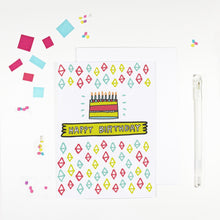 Pattern Happy Birthday Card by Angela Chick