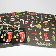 Black Christmas Gift Wrap by Angela Chick