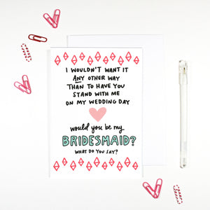 Bridesmaid Card by Angela Chick