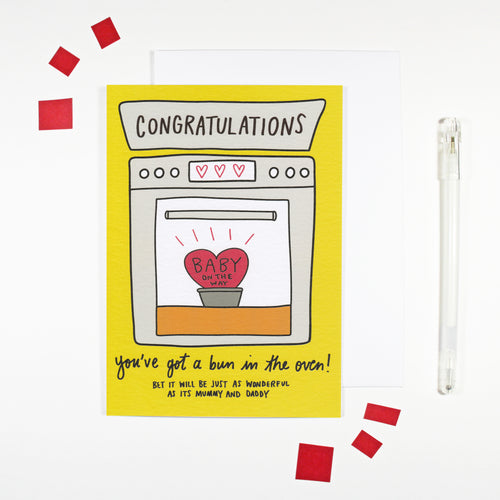 Congratulations You've Got A Bun In The Oven Card by Angela Chick