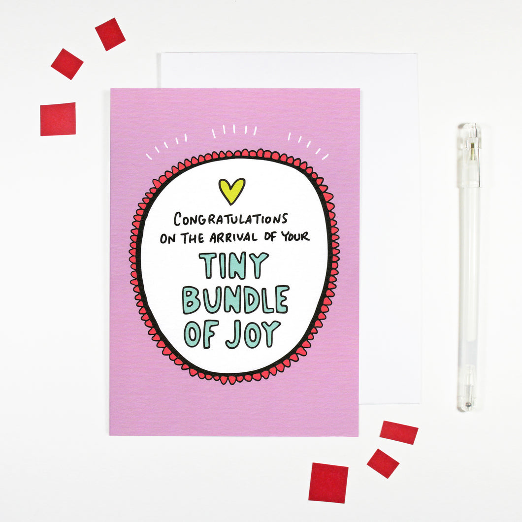 Bundle of Joy Card for new parents by Angela Chick