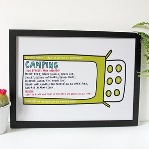 Camping Prescription Print for Happy Campers by Angela Chick