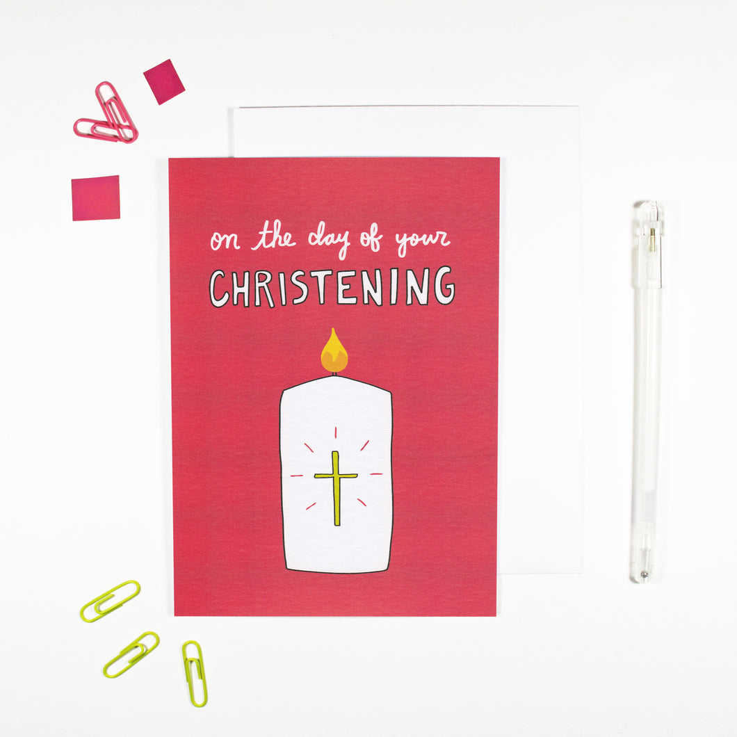 Christening Card by Angela Chick