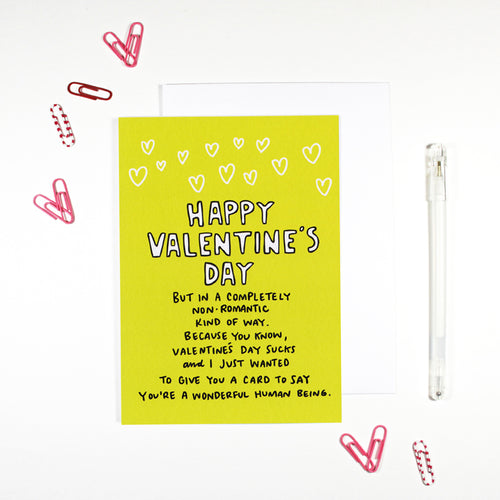 Completely Non-Romantic Valentine's Day Card by Angela Chick