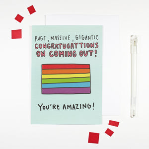 Congratugaytions on Coming Out Card by Angela Chick