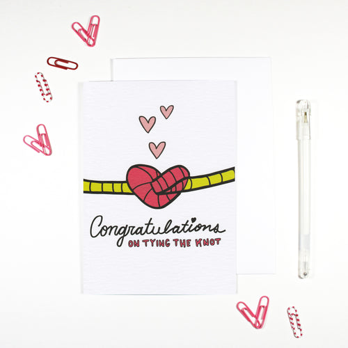 Congratulations on Tying The Knot Wedding Card by Angela Chick