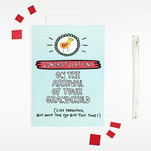 Congratulations on Your Grandchild Card for New Grandparents by Angela Chick