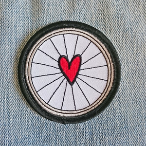 Iron On Cycling Patch for Bike Lovers by Angela Chick