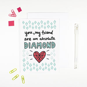 Diamond Friend Card by Angela Chick