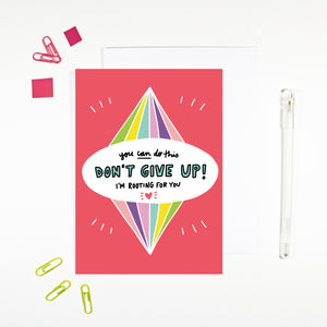 Don't Give Up Encouragement Card