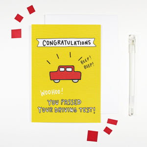 You Passed Your Driving Test Card by Angela Chick