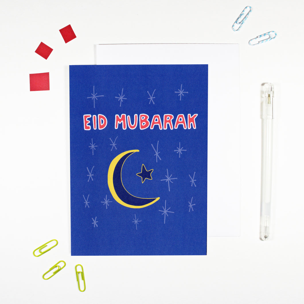 Eid Mubarak Card by Angela Chick
