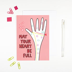 Full Heart Palmistry Card by Angela Chick