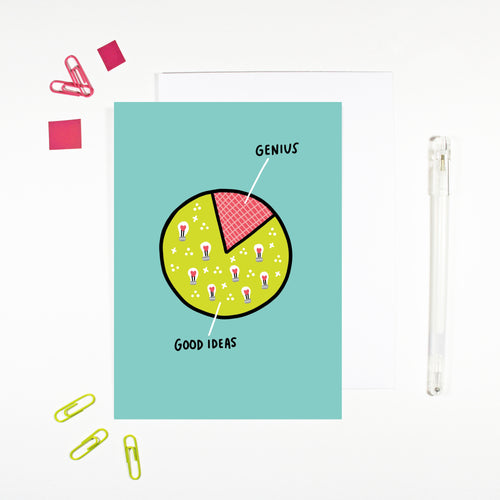 Good Ideas, Genius Card by Angela Chick