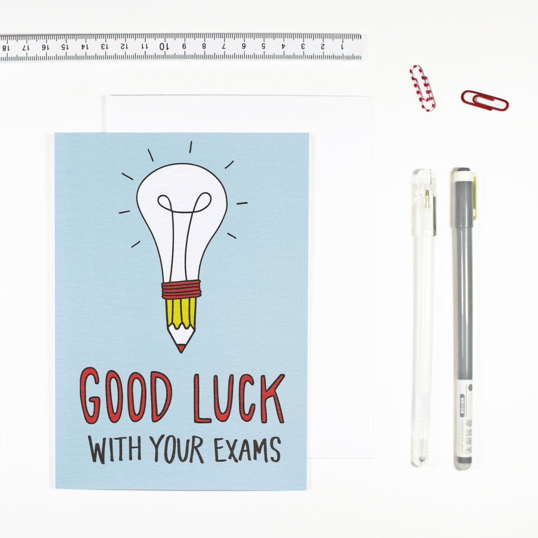 Good Luck With Your Exams Card by Angela Chick