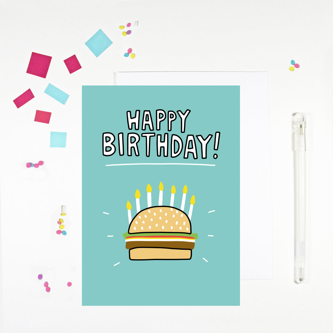 Happy Birthday Burger Birthday Card
