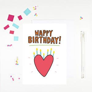 Happy Birthday Heart Birthday Card