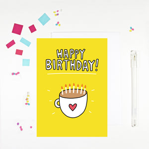 Happy Birthday Mug Birthday Card