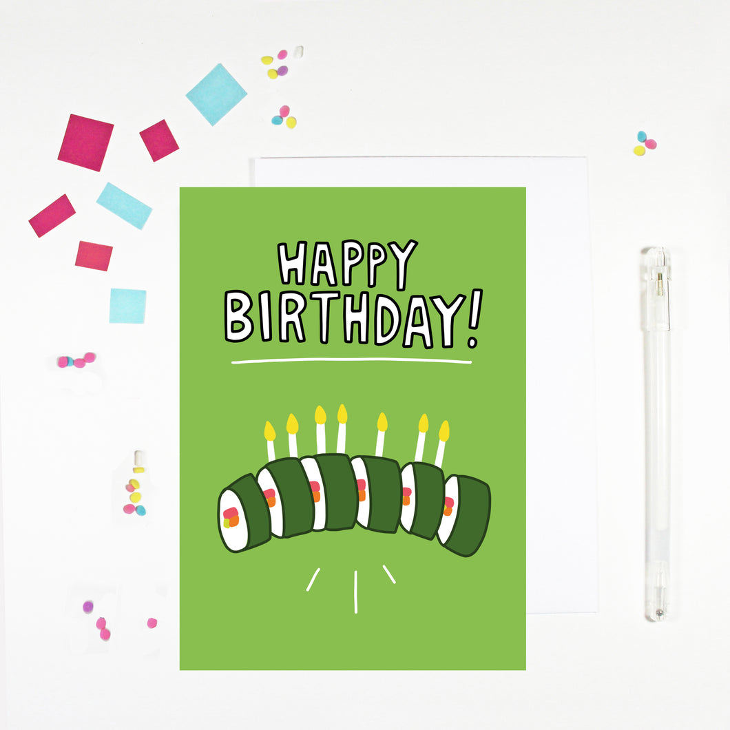 Happy Birthday Sushi Birthday Card