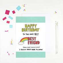 Happy Birthday Best Friend Birthday Card by Angela Chick