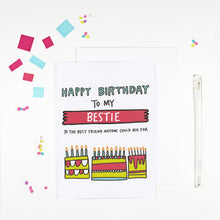 Happy Birthday Bestie Card for Best Friend's Birthday by Angela Chick