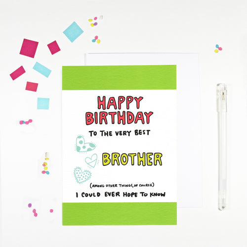 Happy Birthday Brother Birthday Card by Angela Chick