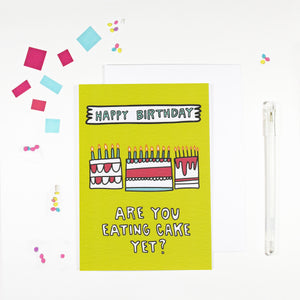 Happy Birthday Cake Card by Angela Chick