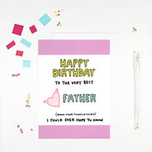 Happy Birthday Father Birthday Card for dad by Angela Chick