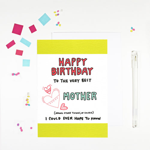 Happy Birthday Mother Birthday Card by Angela Chick