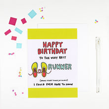 Happy Birthday Runner Birthday Card for Runners by Angela Chick