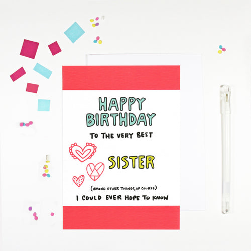 Happy Birthday Sister Birthday Card by Angela Chick