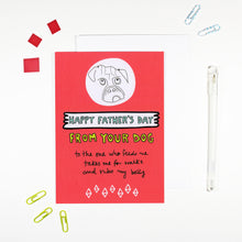 Happy Father's Day From Your Dog Card by Angela Chick