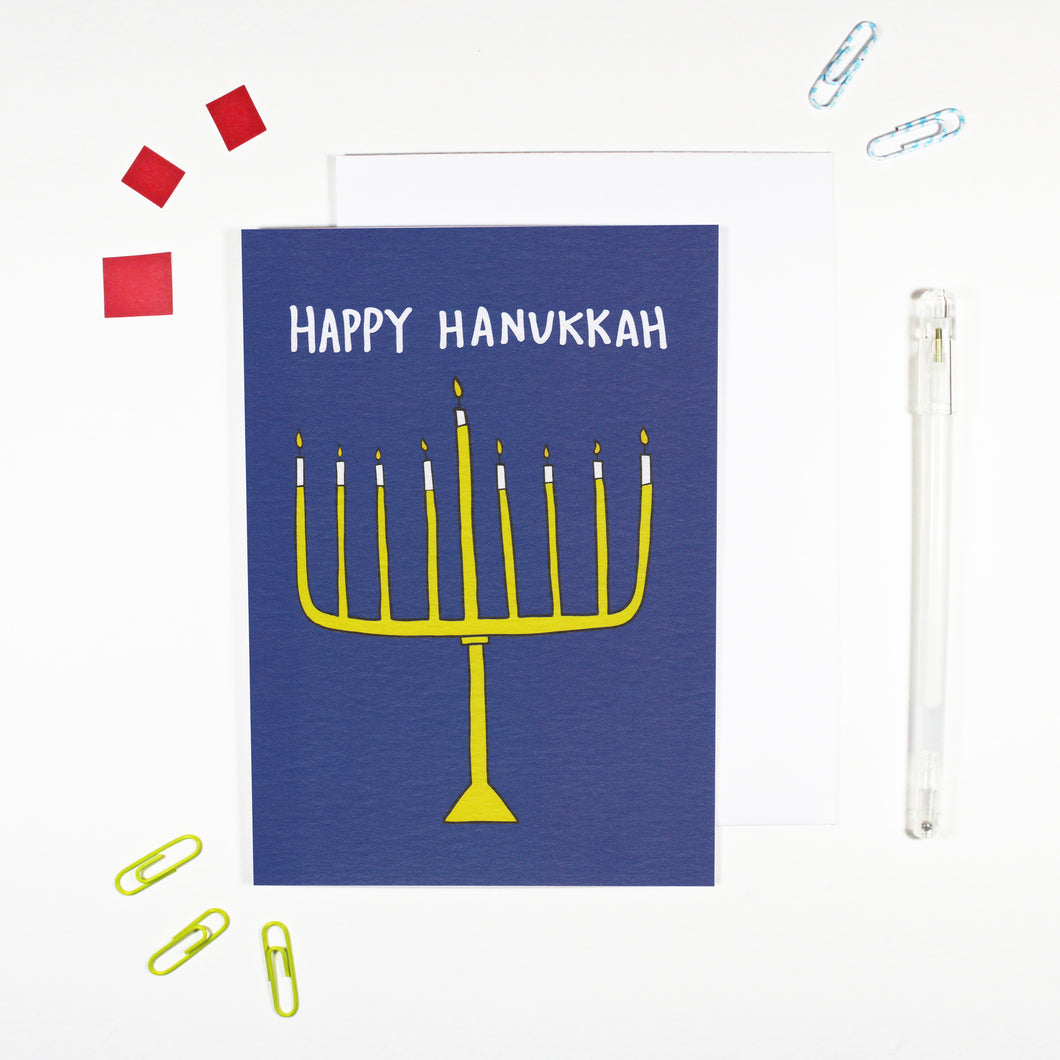 Happy Hanukkah Card by Angela Chick