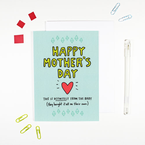Happy Mother's Day From The Baby Card by Angela Chick