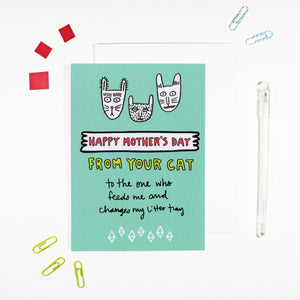 Happy Mother's Day From Your Cat Card by Angela Chick