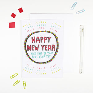 Happy New Year Card by Angela Chick