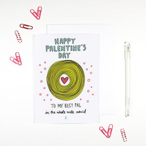 Happy Palentine's Day Best Pal Card by Angela Chick