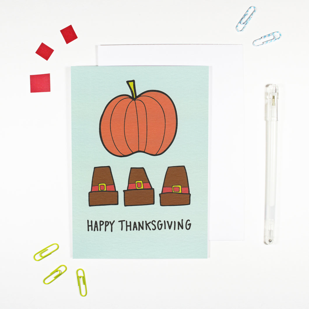 Happy Thanksgiving Card by Angela Chick