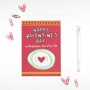 Happy Valentine's Day Platonic Love Card by Angela Chick