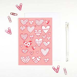 Hearts Card by Angela Chick